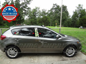 Fit 2010 2013 Kia Forte 5dr Hatchback 6pc Pillar Post Stainless Steel Trim