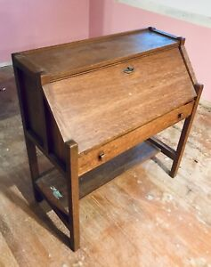 Antique Danner Secretary Desk Oak Cabinet Display Cabinet