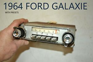Old Ford Fomoco Classic Retro Vintage Original Car Dash Radio Made In Usa Ar 23