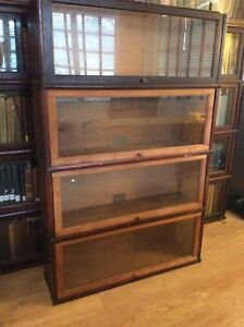 4 Antique Globe Wernicke Barrister Bookcase C Sections Project