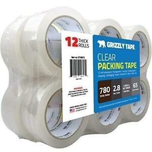 Clear Packing Tape Refill Rolls For Shipping Packaging 2in X 65 Yards 12 Rolls