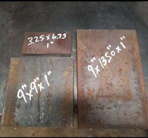 1 00 Thick Steel Plates Remnants lot Of 3