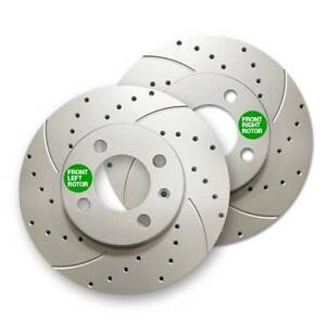 Front Premium Geomet Rust Protected Drilled Slotted Brake Rotors