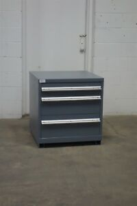 Used Lista 3 Drawer Cabinet 30 Tall Industrial Tool Bench Storage 1626 Vidmar