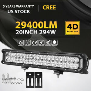 Nilight Led Light Bar 20 Inch 126w Spot Flood Combo Offroad Fog Lights 4wd Jeep