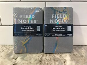 Bundle Of Both Field Notes East West Coastal Edition Memo Books Sold Out New