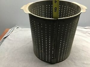 Enterprise 8 Qt Sausage Stuffer Strainer Basket Fruit Wine Lard Press