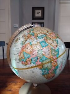 Vintage Replogle World Globe 12 World Classic Series With Raised Relief