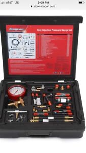 Snap On Fuel Injection Pressure Tester Master Set Eefi500a Injector Kit
