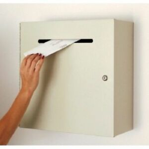 Mail Room And Office Supplies Steel Wall Mount Mail Drop Box Large