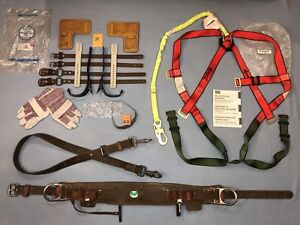 New Klein Tree Pole Lineman Climbing Gear Gaffs Spikes Belt Safety Harness