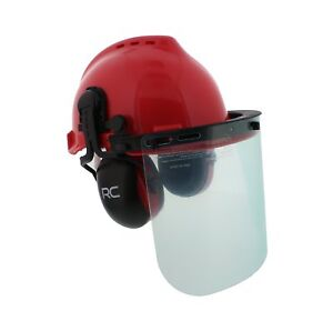 Forestry Safety Helmet Vented Hard Hat Mesh And Plastic Visors Protective