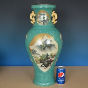 Fine Large Antique Chinese Famille Rose Porcelain Vase Marked Qianlong E8146