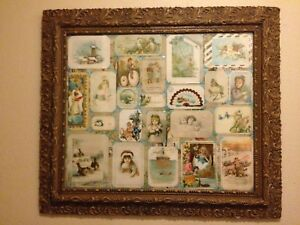 Large Antique Gesso Gilt Wood Picture 4 Wide Frame 19th C 1880 S 31 X 27