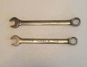 Matco Tools Lot Of 2 Combination 12 Point Wrenches 11 16 3 4