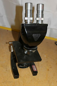 Bausch Lomb Microscope With Eye Pieces And Objectives Hwy