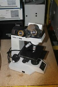 Leica Atc 2000 Microscope With 10wf Eye Piece Anchro 4 0 1 Objectives Hwy