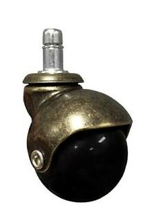 2 Antique Brass Ball Caster Wheel For Office Executive Gaming Chairs W 7 1