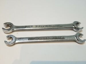 Vintage Craftsman Usa Double Flare Nut Wrench Set V Series 44171 44174 Sae