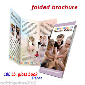 1000 Brochures fold Or Flat 8 1 2 X 11 2 Side gloss 100 Lb Book W design