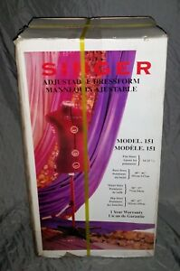 New In Box Singer Adjustable Dress Form With Stand Mannequin Model 151