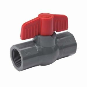 2 Gray Pvc Schedule 80 Threaded Ball Valve Nsf Approved Rated Only One