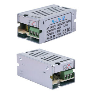 Dc 12v 15w Universal Regulated Switching Power Supply Transformer For Led Strip