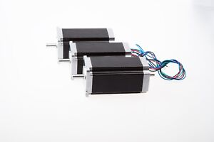 us Free Ship 3 Pcs Nema 23 Dual Shaft Stepper Motor 425 Oz in 3 0a Cnc Kits