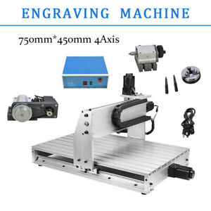 6040z 4 Axis Cutter Router Engraving Drilling Milling Engraver Usb 3d
