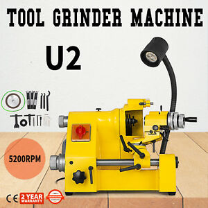 U2 Universal Tool Cutter Grinder Machine 100mm Grinding Double Bearing 3 Collets