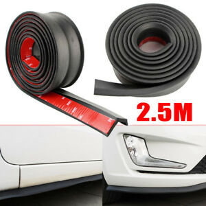 Universal 100 Car Lip Skirt Protector Front Bumper Spoiler Side Rubber Splitter