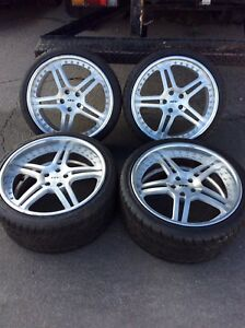 Set Of 4 Staggered 19 20 2 Piece Dpe Wheels On Nitto Nt555 Tires