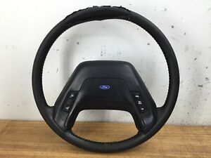 87 91 Ford Truck F150 F250 F350 Bronco Black Steering Wheel With Cruse Control