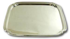 Mappin Webb Silver Plate Vintage Heavweight Square Serving Tray 13 1 2