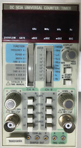 Tektronix Dc 503a Universal Counter timer Excellent Physical Cond for Parts