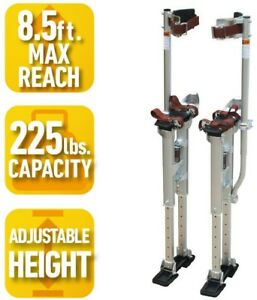 Adjustable Height Drywall Stilts Pro series 18 In To 30 In Lightweight Self lock