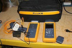 Nice Fluke Dsp 4000 Cable Analyzer With Dsp 4000sr Smart Remote Dsp lia011 Hwy