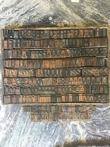 263 Pcs 35 Mm Rare Wood Letterpress Type Print Block