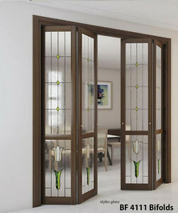 Stained Glass Bifolds In Solid Wood 13 8 Thick Hemlock For Staining Painting