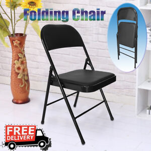 Folding Multifunctional Backrest Chair Casual Office Training Chair Pu Leather