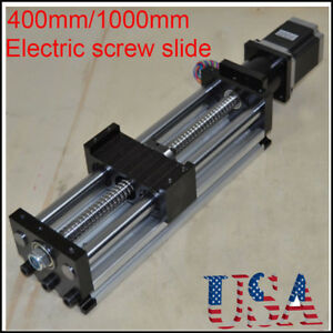 Stroke 400 1000mm Ball Screw Linear Cnc Slide Long Stage Actuator Stepper Motor