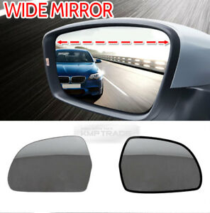 Side Mirror Blind Spot Wide Curved Glass Pair For Hyundai 2002 2012 Getz Click