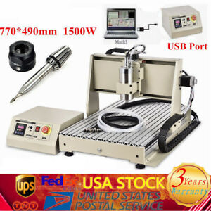 Usb 3 Axis Cnc 6040 Router Engraving Cutting Milling Machine 1 5kw Spindle Vfd