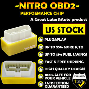 Yellow Plastic High Quality Obd2 Performance Chip Save Fuel Gas For Niissan