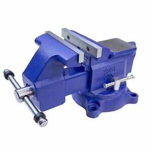 6 Inch Cast Iron Work Bench Vice Engineer Swivel Base Workshop Vise Clamp Wx