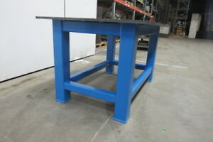 H d 3 4 Thick Top Steel Fabrication Layout Welding Table Work Bench 59 X 40