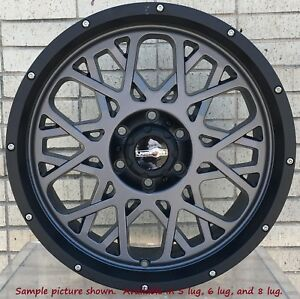 4 New 18 Wheels For Dodge Ram 2500 3500 Truck Hummer H2 Rims 21696