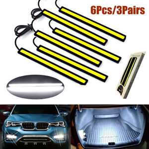6pcs Waterproof 17cm Cob Car Led Lights White 12v For Drl Fog Light Driving Lamp