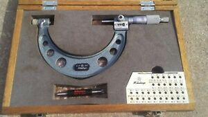 3 4 Mitutoyo Thread Micrometer With Standard