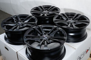 14 Wheels Toyota Yaris Prius Corolla Galant Accord Civic Black Rims 4x100 4x114